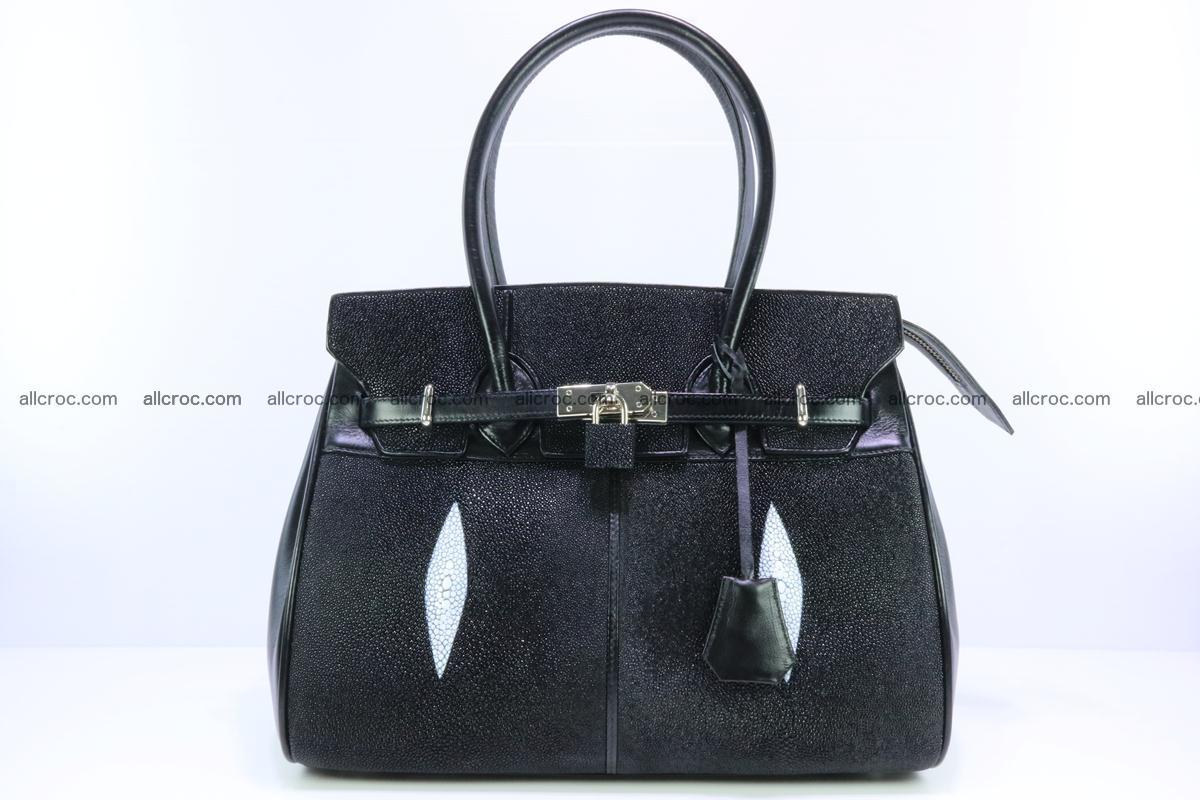 Stingray skin handbag replica of Hermes Birkin 385 Foto 0