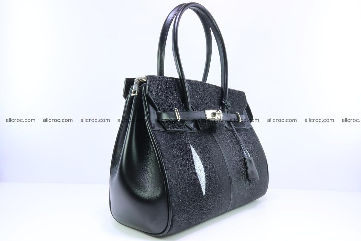 Stingray skin handbag replica of Hermes Birkin 385 Foto 4