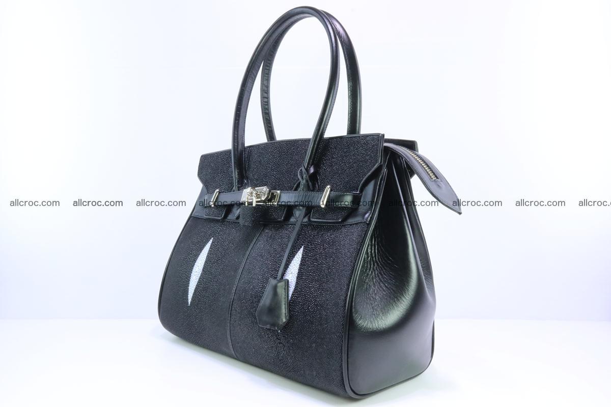 Stingray skin handbag replica of Hermes Birkin 385 Foto 3
