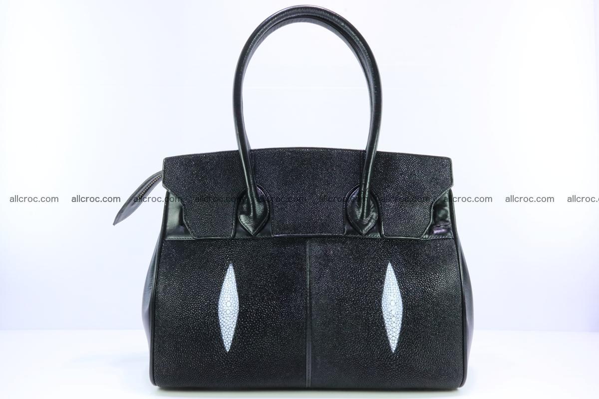 Stingray skin handbag replica of Hermes Birkin 385 Foto 1