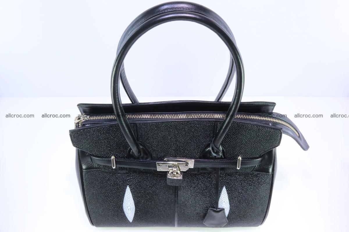 Stingray skin handbag replica of Hermes Birkin 385 Foto 2
