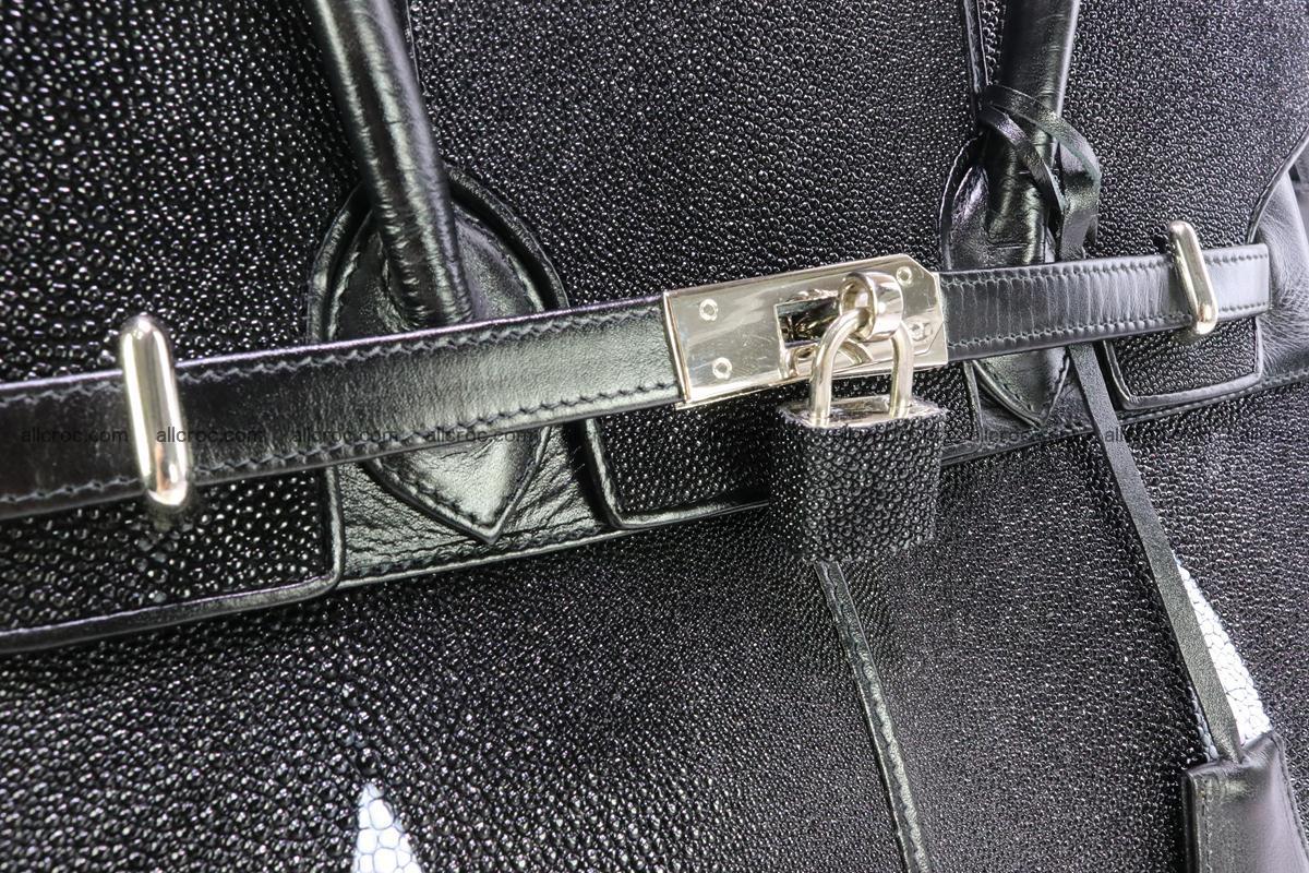 Stingray skin handbag replica of Hermes Birkin 385 Foto 14