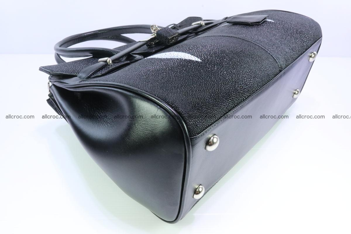 Stingray skin handbag replica of Hermes Birkin 385 Foto 6