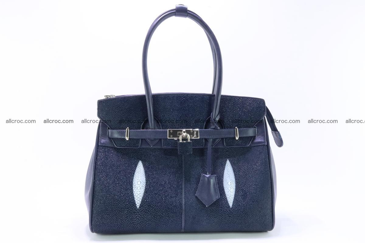 Stingray skin handbag replica of Hermes Birkin 386 Foto 0