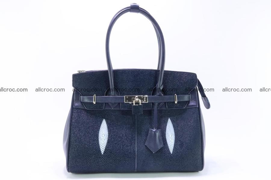 Stingray skin handbag replica of Hermes Birkin 386