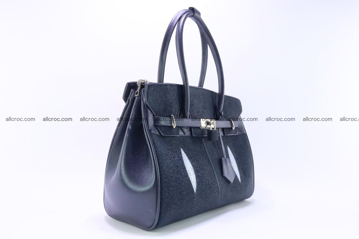 Stingray skin handbag replica of Hermes Birkin 386 Foto 5