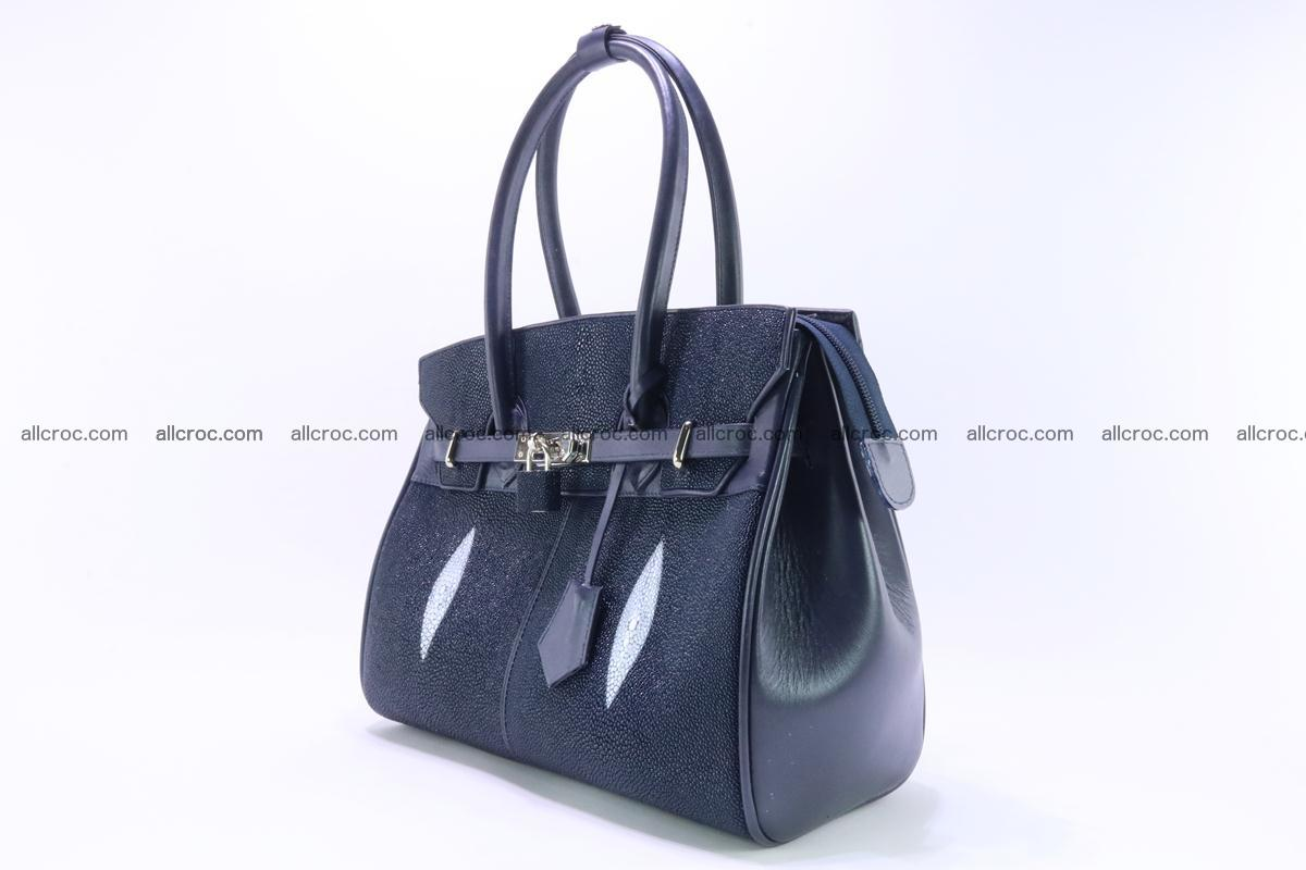 Stingray skin handbag replica of Hermes Birkin 386 Foto 6
