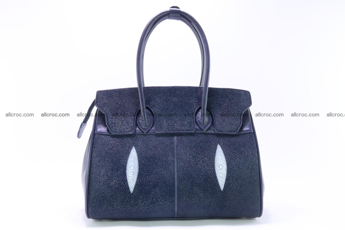 Stingray skin handbag replica of Hermes Birkin 386 Foto 1