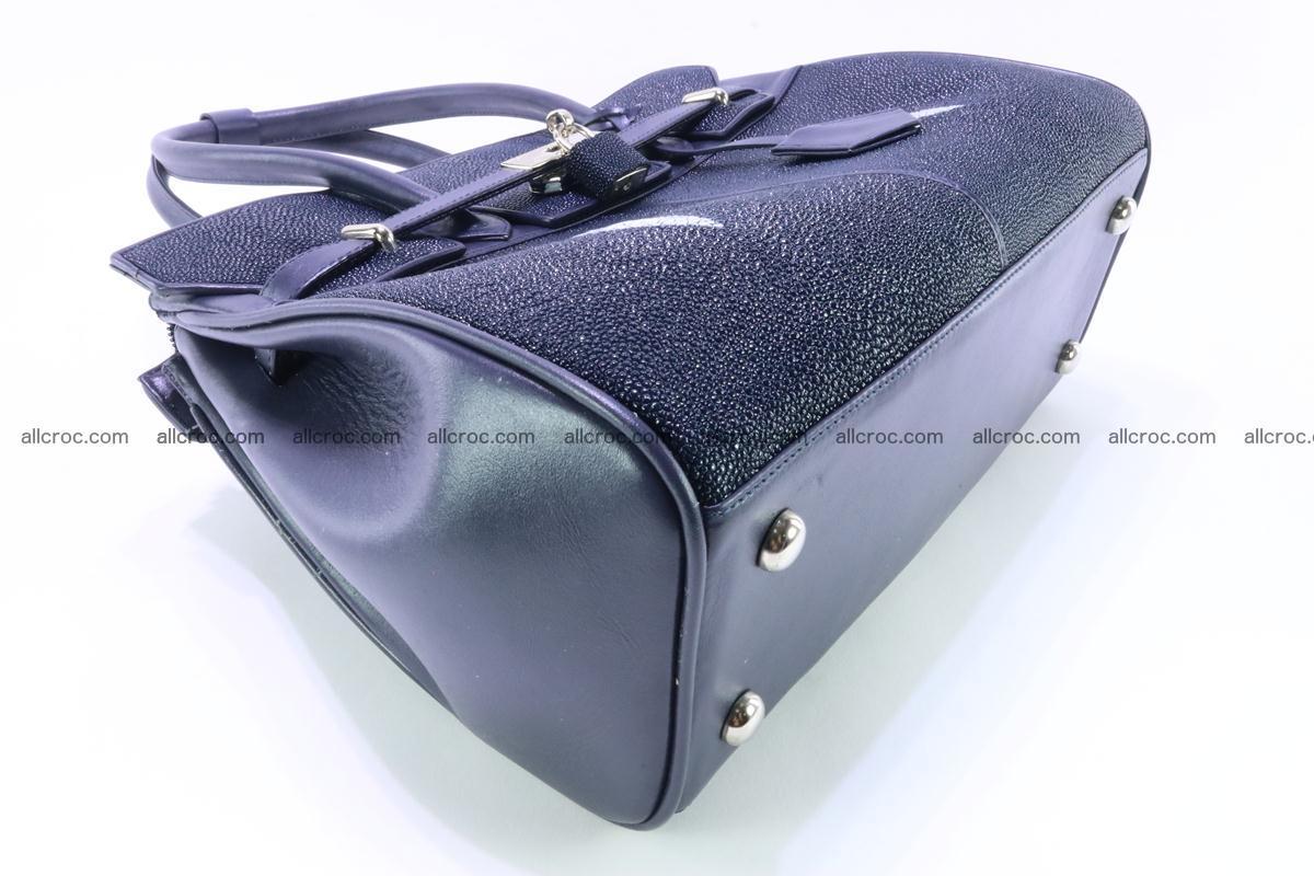 Stingray skin handbag replica of Hermes Birkin 386 Foto 8