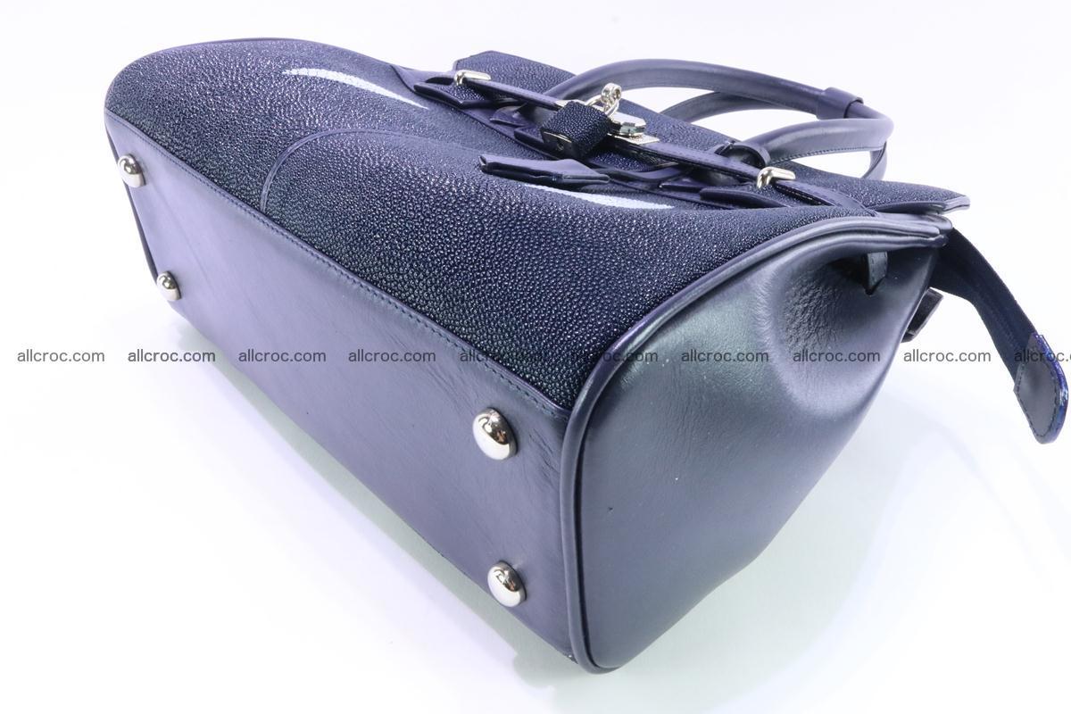 Stingray skin handbag replica of Hermes Birkin 386 Foto 9
