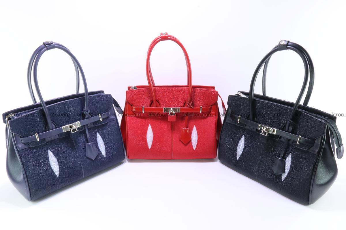 Stingray skin handbag replica of Hermes Birkin 386 Foto 14