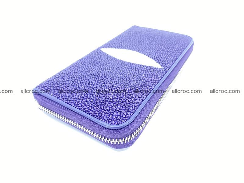 Stingray skin wallet  1 zip 1172