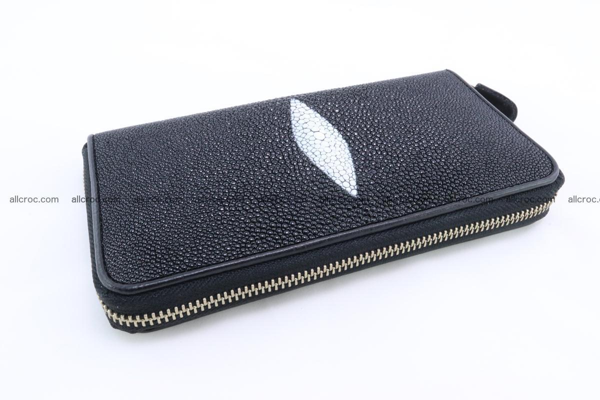 Stingray skin wallet with 1 zip 344 Foto 4