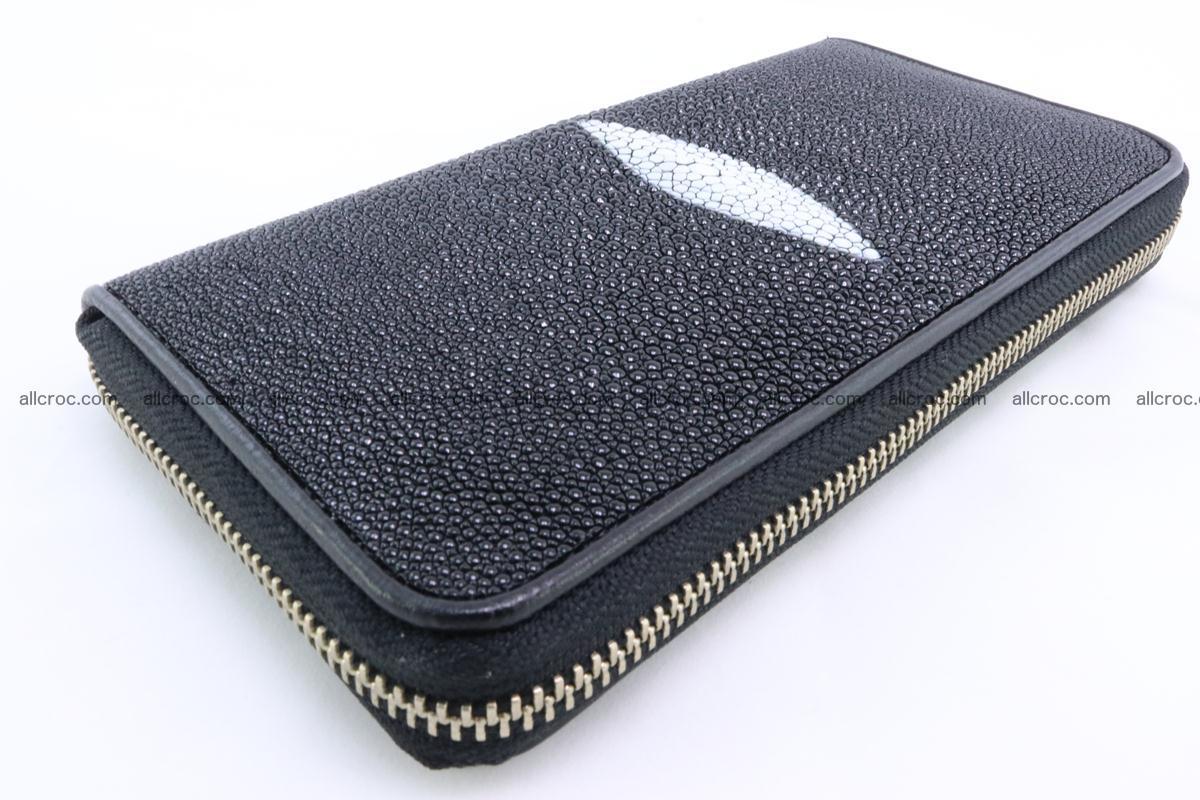 Stingray skin wallet with 1 zip 344 Foto 6