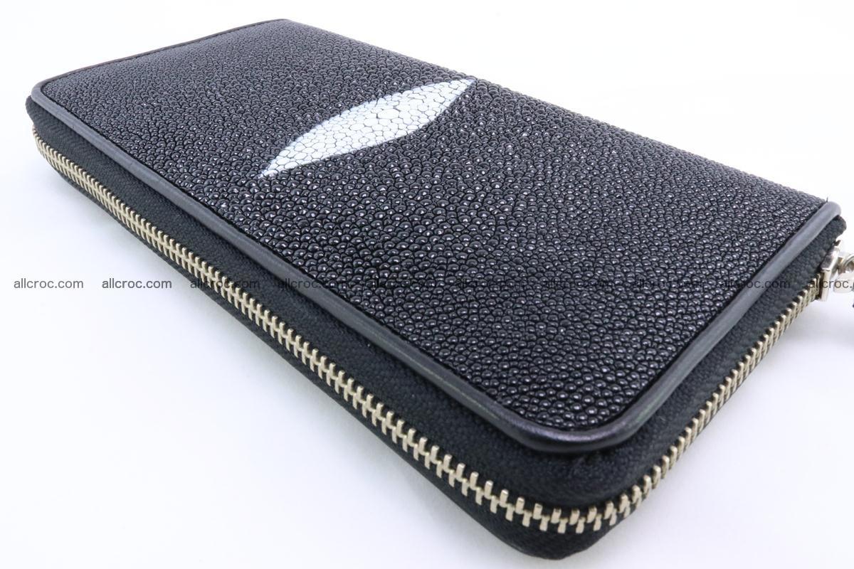 Stingray skin wallet with 1 zip 344 Foto 5