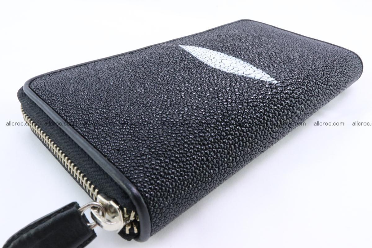 Stingray skin wallet with 1 zip 344 Foto 8
