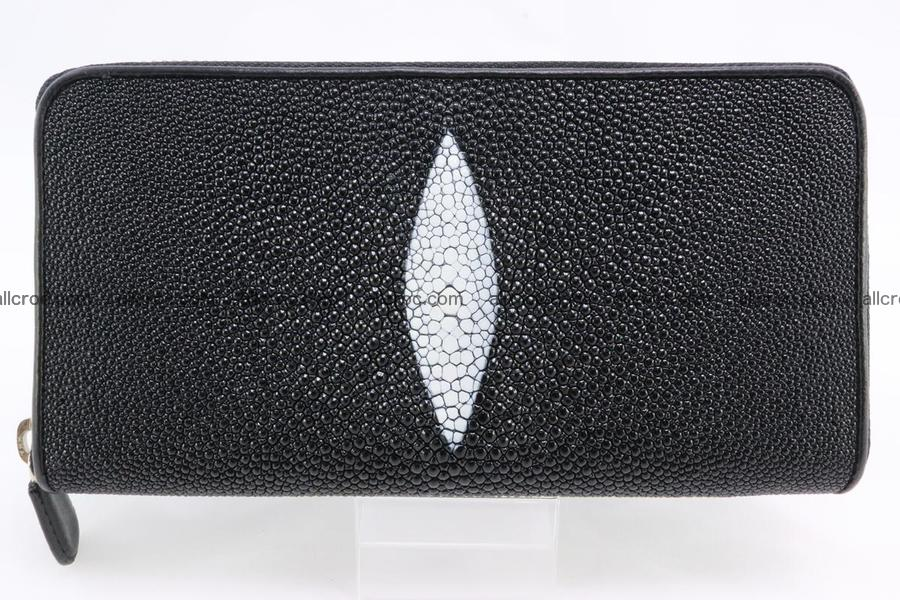 Stingray skin wallet with 1 zip 344