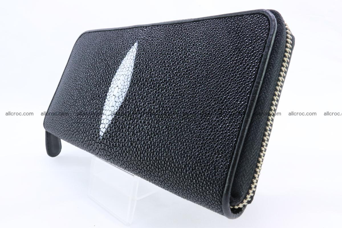 Stingray skin wallet with 1 zip 344 Foto 2