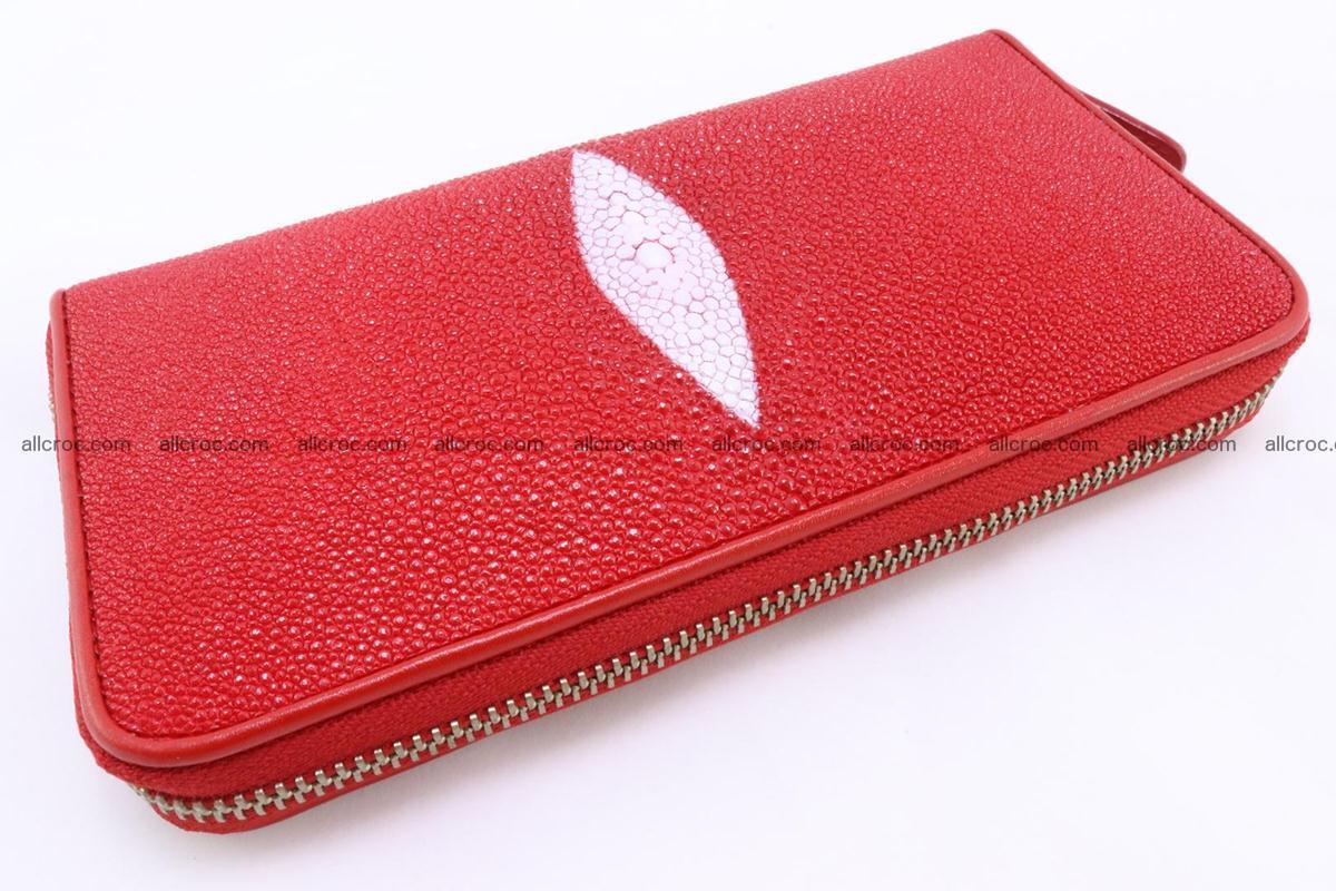 Stingray skin wallet with 1 zip 345 Foto 5