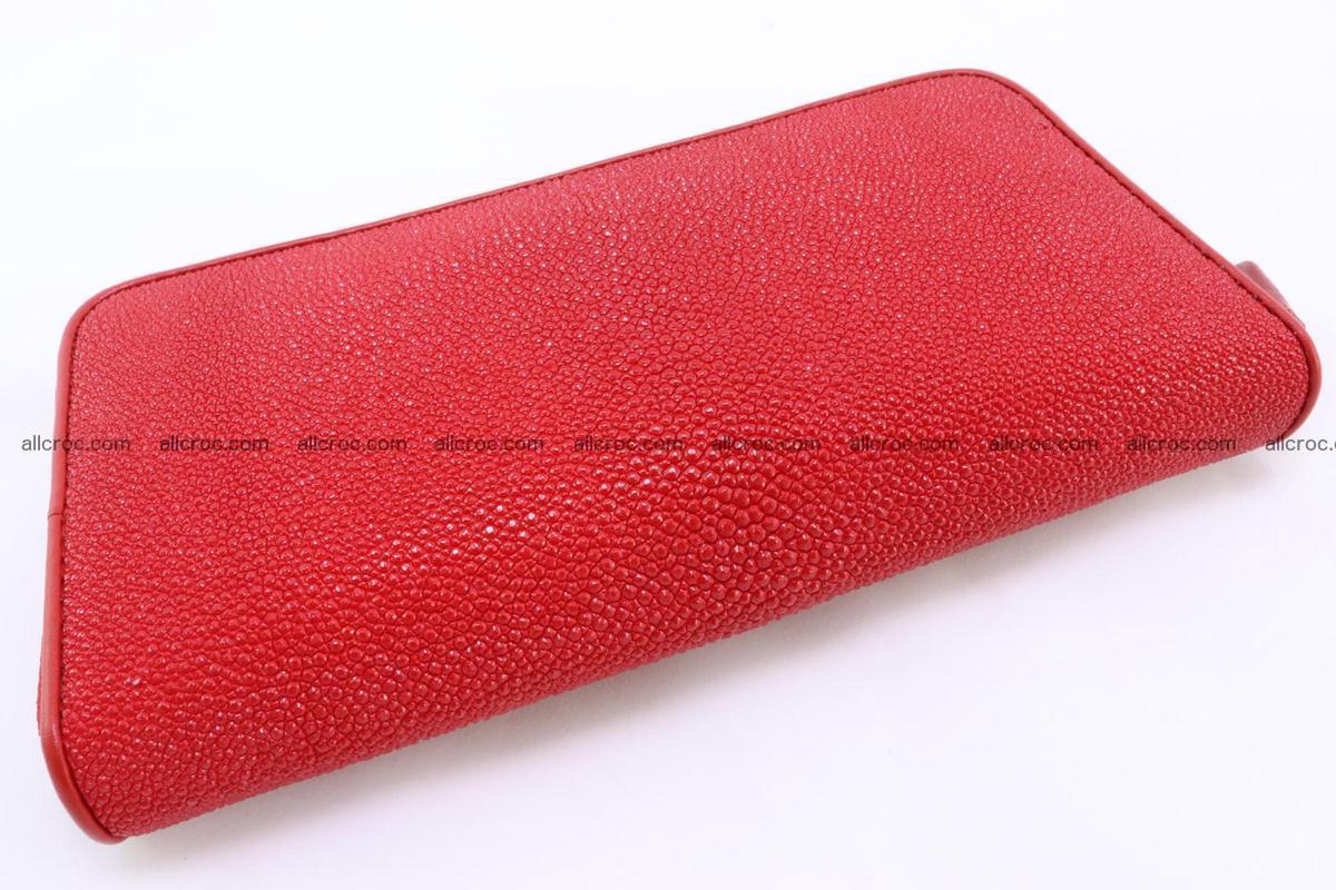 Stingray skin wallet with 1 zip 345 Foto 3