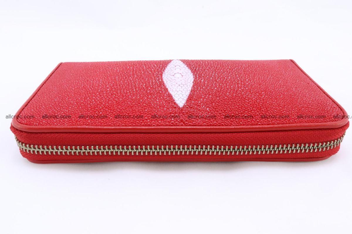 Stingray skin wallet with 1 zip 345 Foto 4