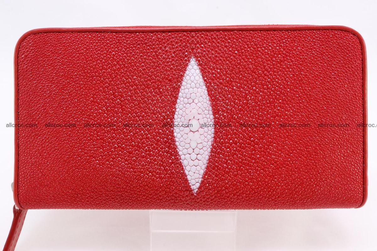 Stingray skin wallet with 1 zip 345 Foto 0