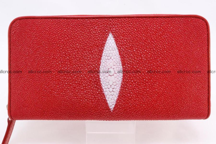 Stingray skin wallet with 1 zip 345