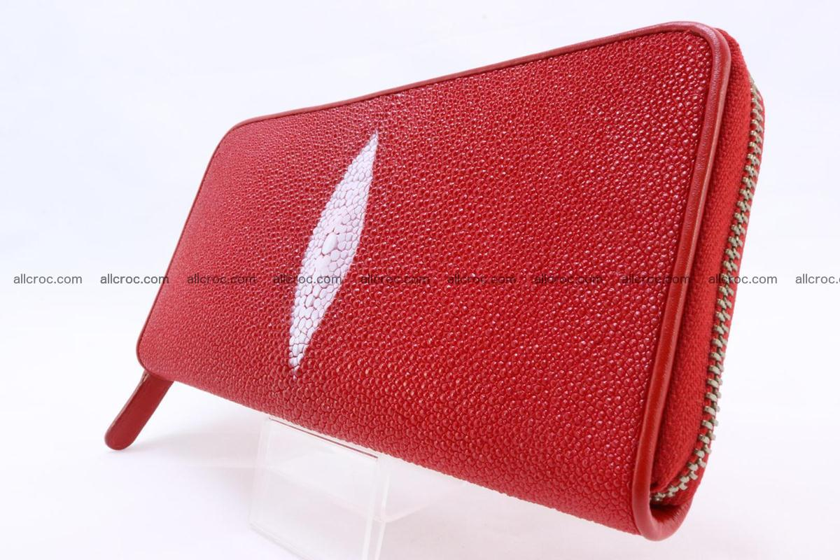 Stingray skin wallet with 1 zip 345 Foto 2