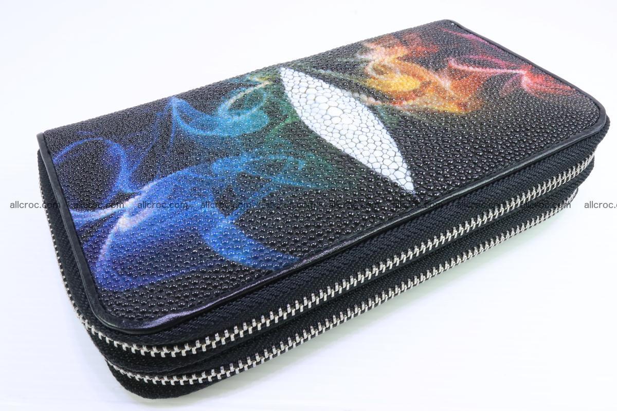 Stingray skin wallet with 2 zips 347 Foto 2