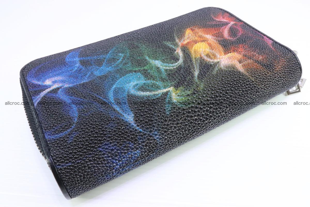 Stingray skin wallet with 2 zips 347 Foto 4