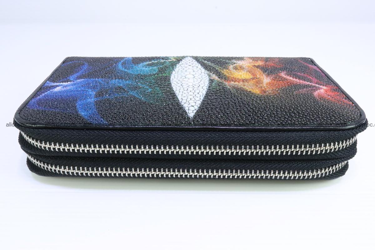 Stingray skin wallet with 2 zips 347 Foto 3