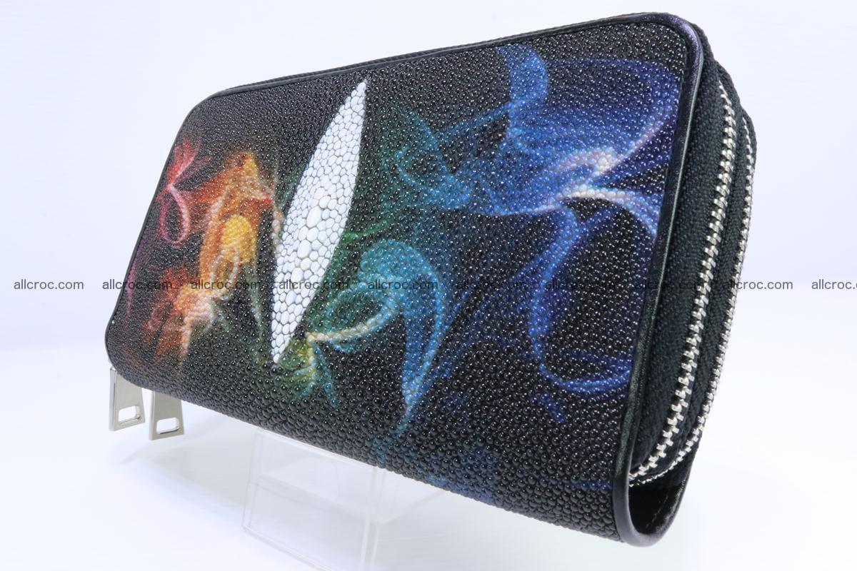 Stingray skin wallet with 2 zips 347 Foto 1