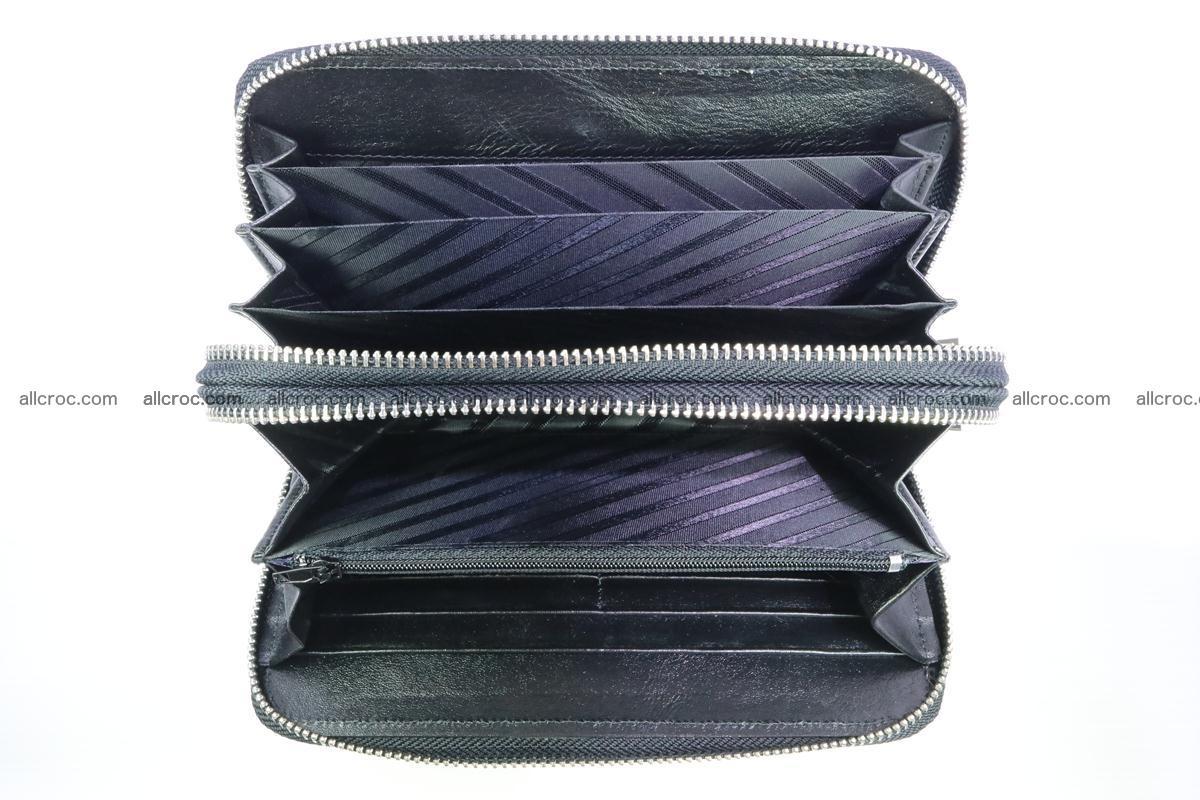 Stingray skin wallet with 2 zips 347 Foto 7