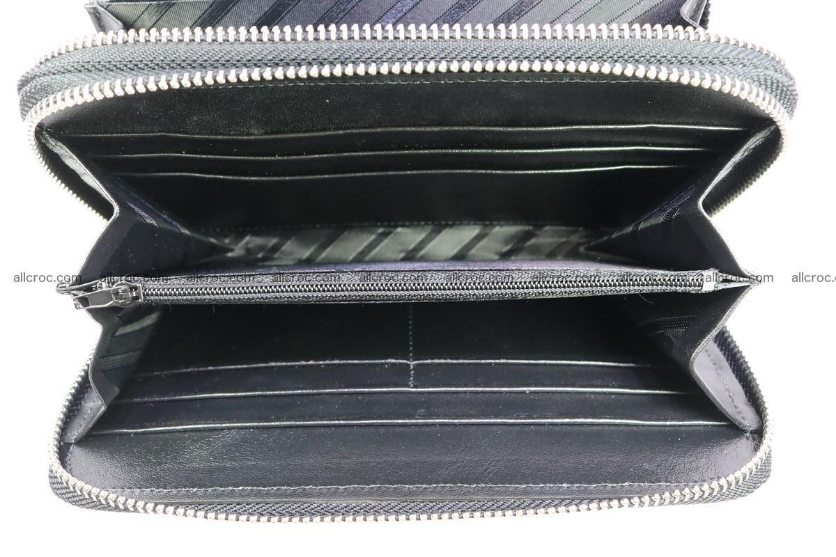Stingray skin wallet with 2 zips 347 Foto 8