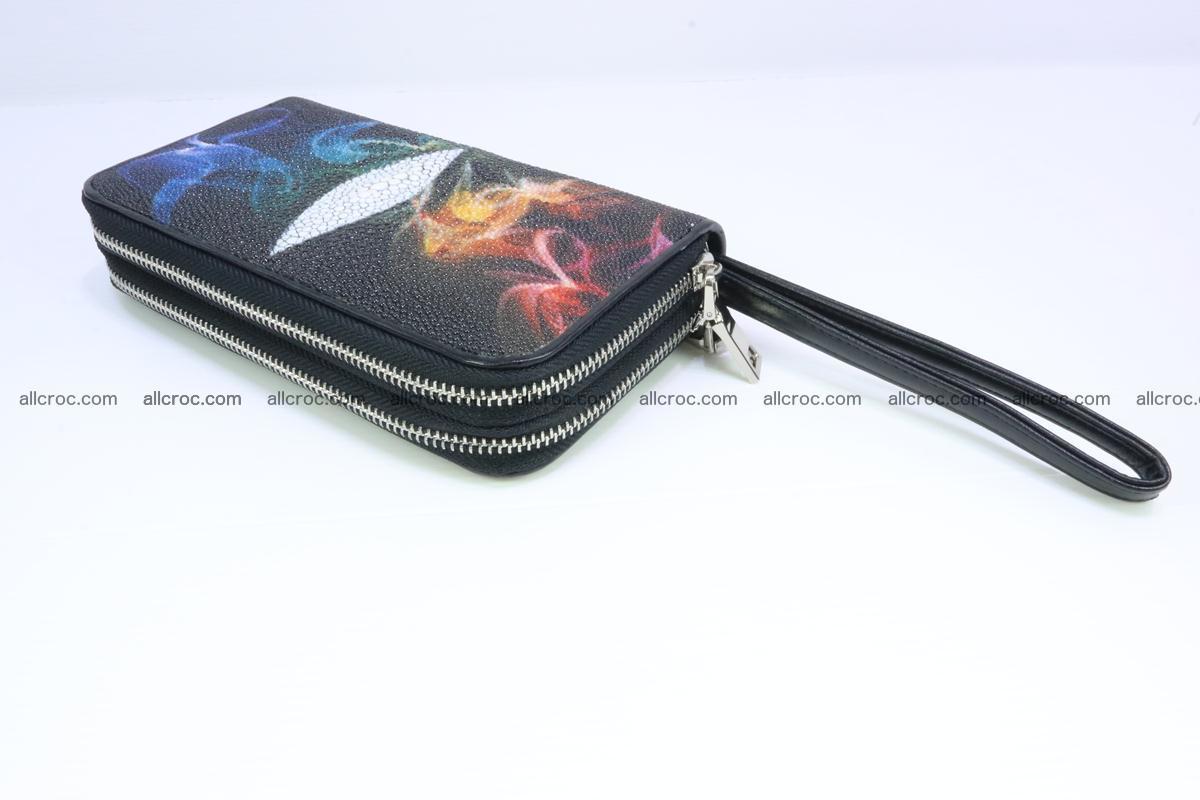 Stingray skin wallet with 2 zips 347 Foto 5