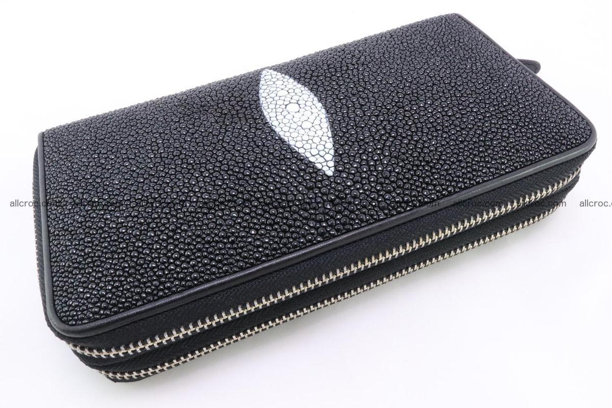 Stingray skin wallet with 2 zips 346 Foto 3