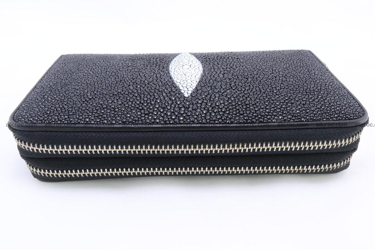 Stingray skin wallet with 2 zips 346 Foto 5