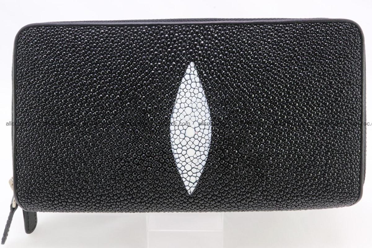 Stingray skin wallet with 2 zips 346 Foto 0