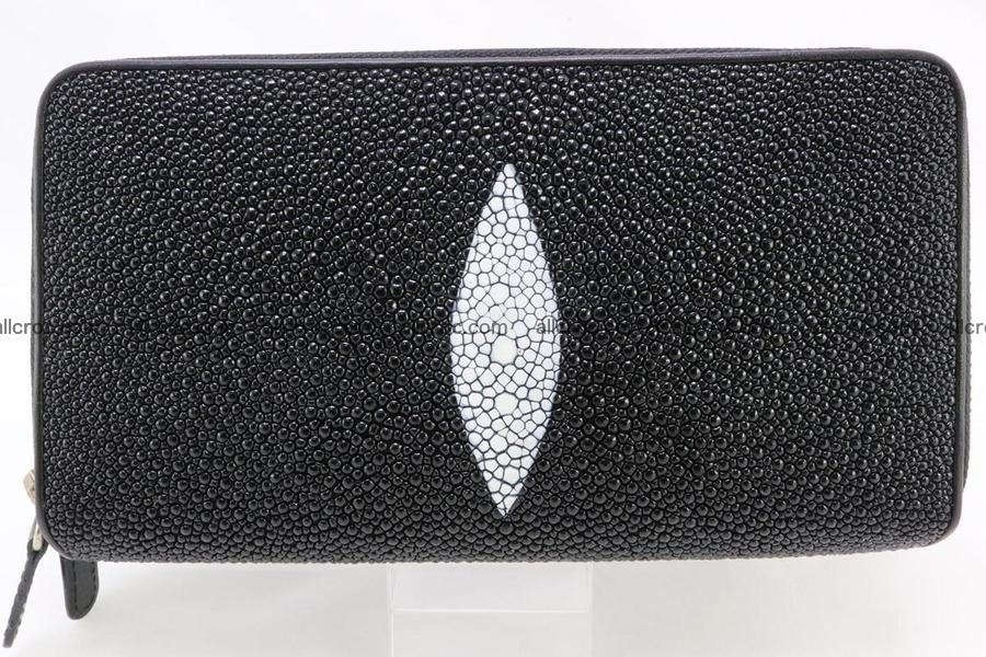 Stingray skin wallet with 2 zips 346