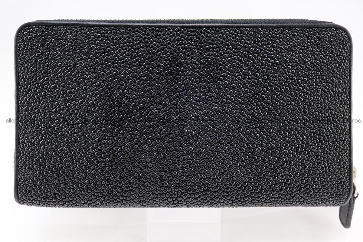 Stingray skin wallet with 2 zips 346 Foto 1