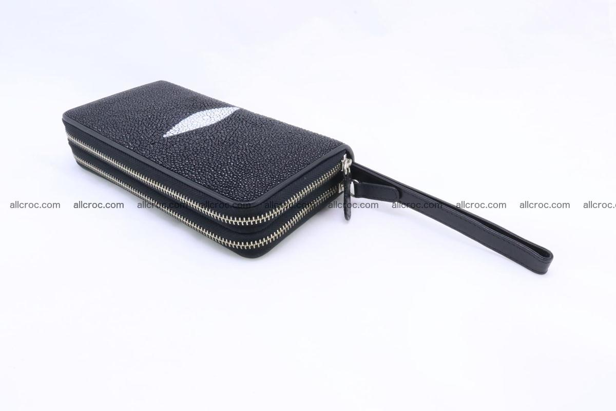 Stingray skin wallet with 2 zips 346 Foto 7