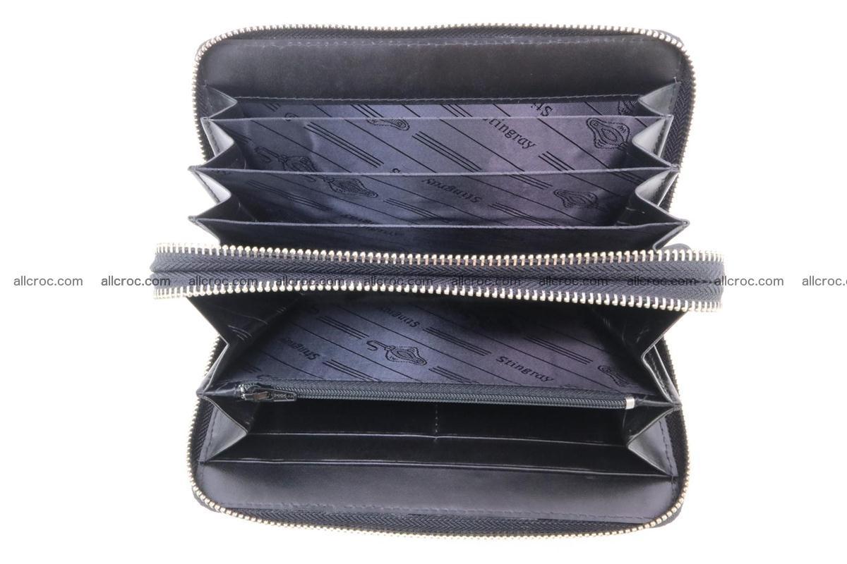Stingray skin wallet with 2 zips 346 Foto 9