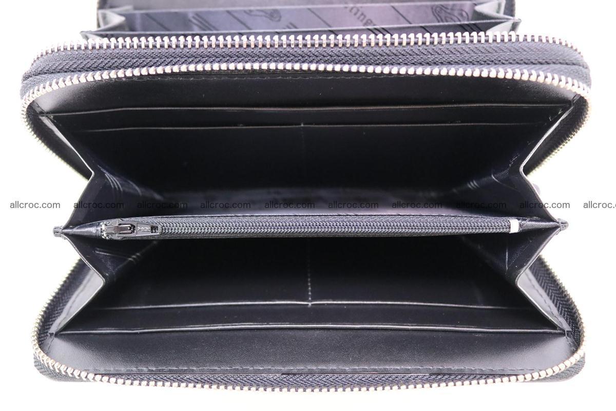 Stingray skin wallet with 2 zips 346 Foto 12