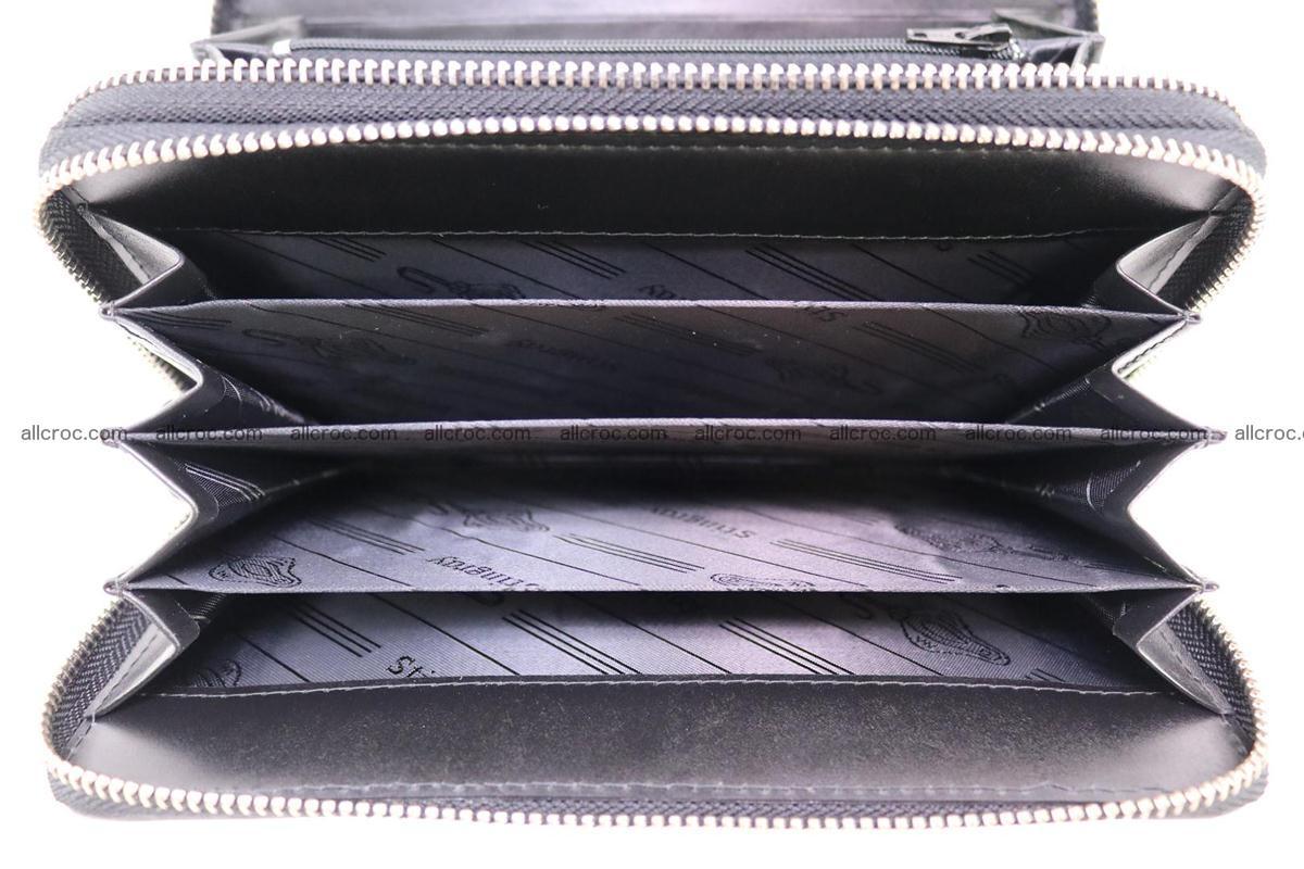 Stingray skin wallet with 2 zips 346 Foto 11