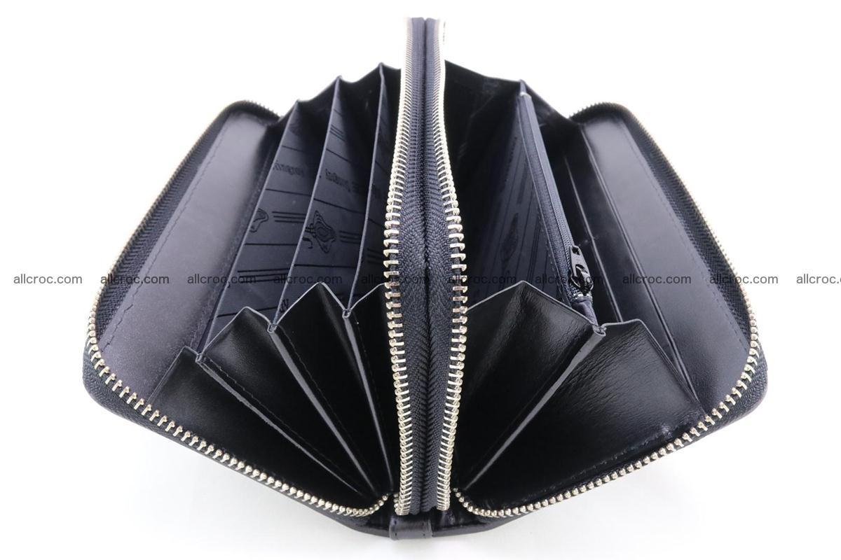 Stingray skin wallet with 2 zips 346 Foto 10