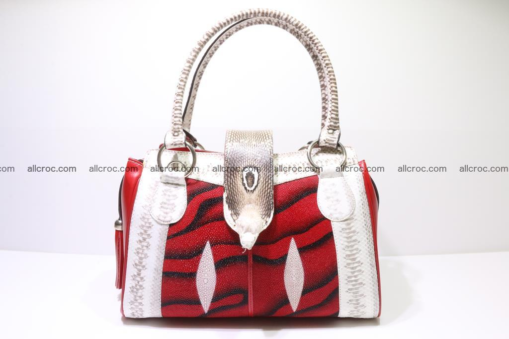 Stingray skin womens handbag 397 Foto 0