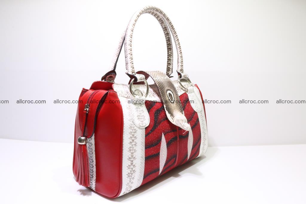 Stingray skin womens handbag 397 Foto 1