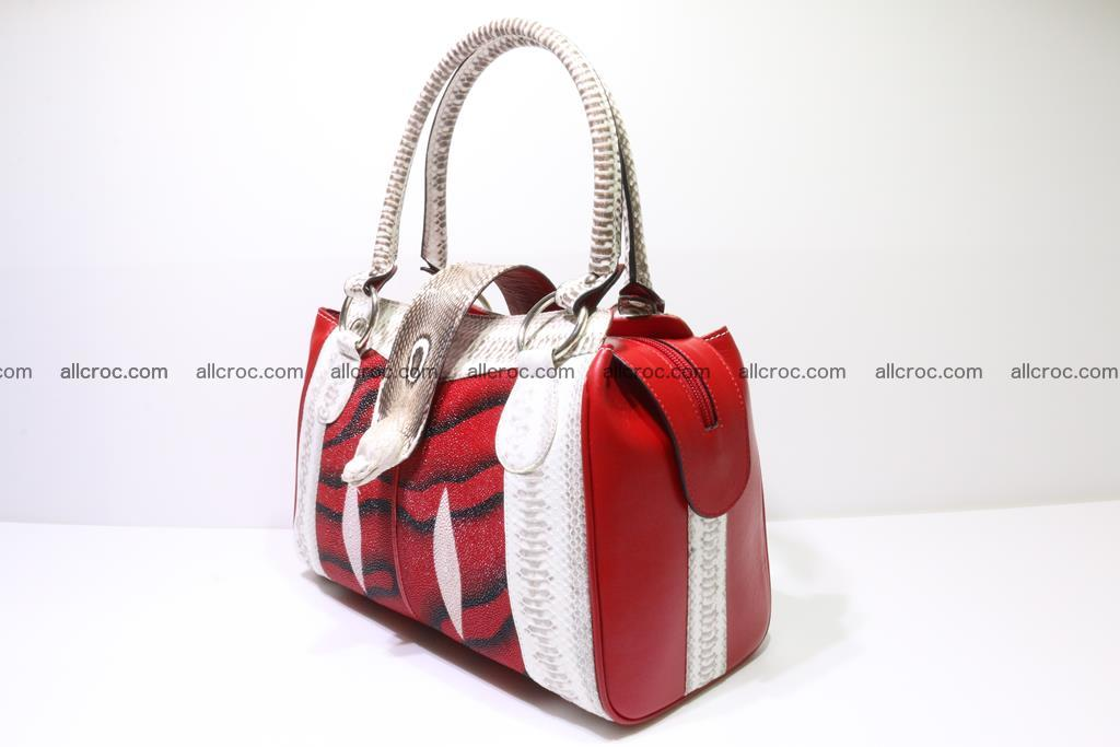 Stingray skin womens handbag 397 Foto 2