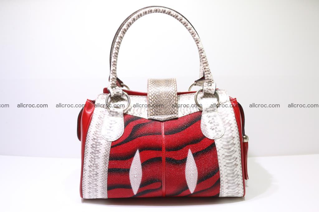 Stingray skin womens handbag 397 Foto 5