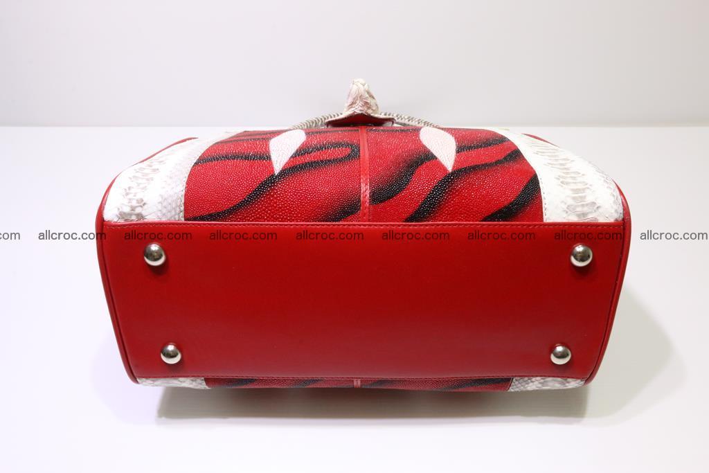 Stingray skin womens handbag 397 Foto 6